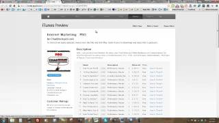How To Give Internet Marketing PRO A iTunes Rating and Review